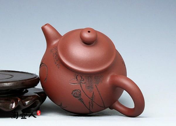 宜兴紫砂壶名家何建新紫砂壶-潘壶