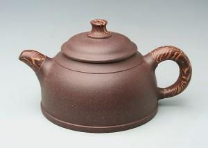 紫泥陶木壶A