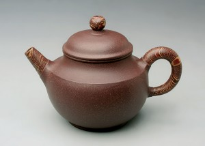 紫泥陶木壶B