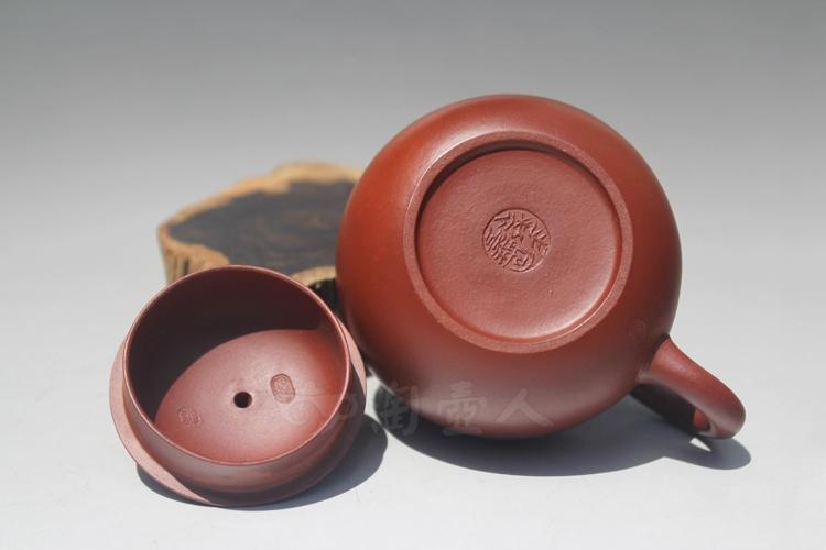 紫砂壶-小西施-许定华全手工制作-大红袍紫砂泥料