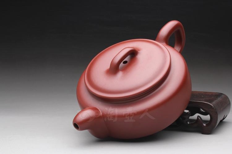 紫砂壶-玉壶冰心(大红袍)-范泽洪全手工制作-原矿