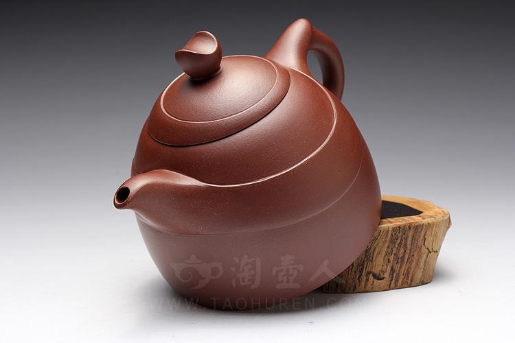 宜兴紫砂壶名家陈夕良的紫砂壶《日月同辉》图片