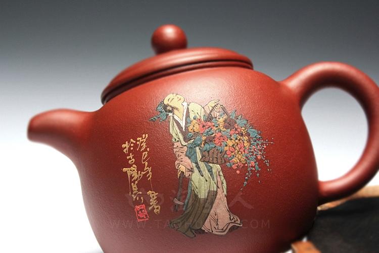张萍/宜兴紫砂壶名家/张萍/八仙(蓝采和)/紫砂壶图片细节展示
