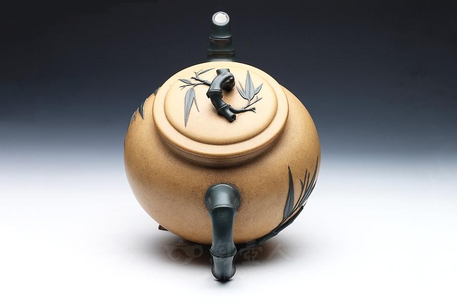 优发娱乐优发娱乐名家吴云根优发娱乐-大型竹节七件套壶