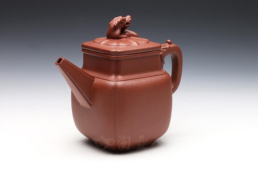 宜兴紫砂壶名家陈夕良紫砂壶-龙柱壶