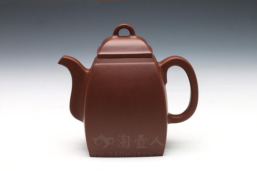 宜兴紫砂壶名家周益君紫砂壶-汉方壶