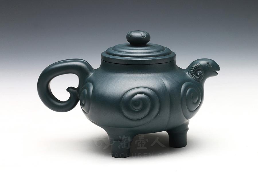 优发娱乐优发娱乐名家丁洪顺优发娱乐-五色羊之一(绿)壶