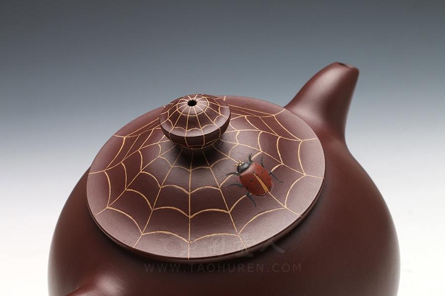 宜兴紫砂壶名家刘剑飞紫砂壶-喜从天降(大)壶
