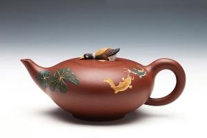 宜兴紫砂壶鱼乐壶