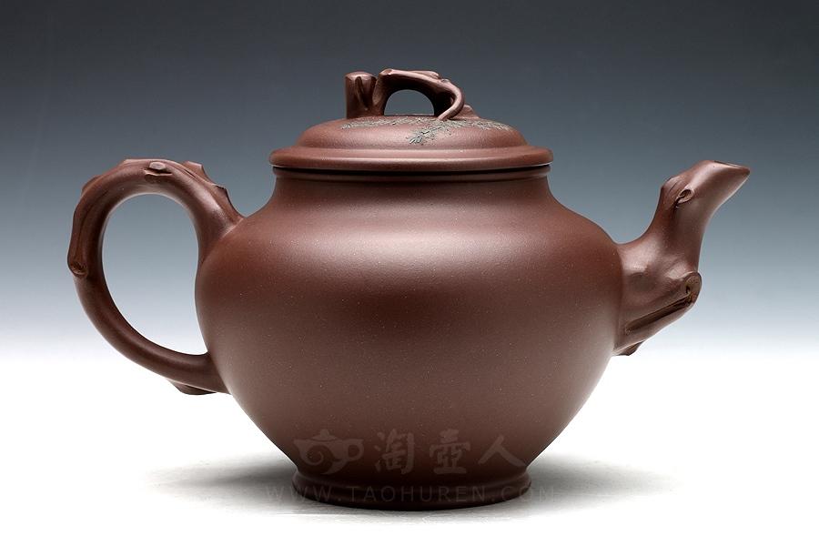 宜兴紫砂壶名家高旭峰紫砂壶-长青壶