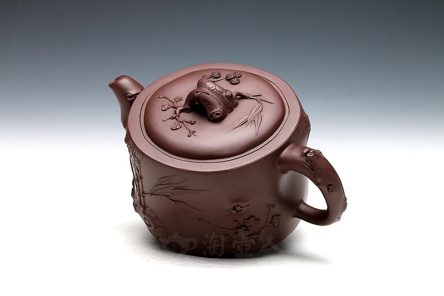 宜兴紫砂壶名家江勤翔紫砂壶-三清壶