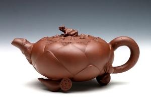 青蛙荷花壶