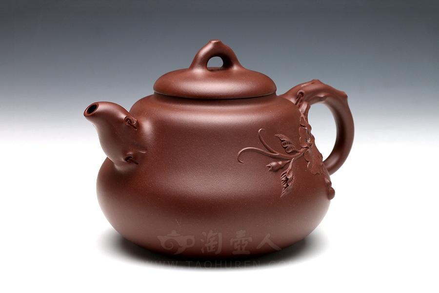 宜兴紫砂壶名家陈洪平紫砂壶-葫芦壶