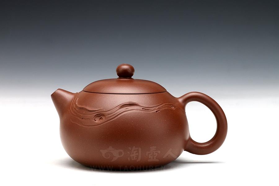 宜兴紫砂壶名家汤先武紫砂壶-西施壶