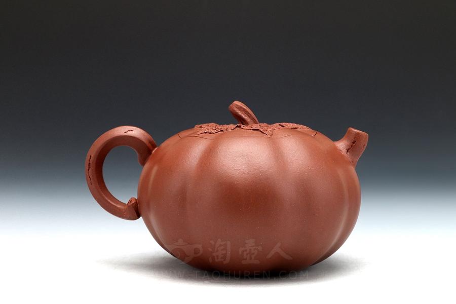 宜兴紫砂壶名家周敏紫砂壶-紫茄(中)壶