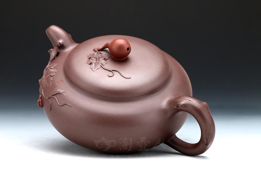 宜兴紫砂壶名家许美华紫砂壶-繁华壶