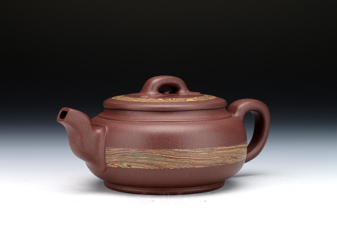 宜兴紫砂壶名家周伯娟紫砂壶-御带(小)壶
