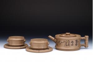 宜兴紫砂壶知足茶具