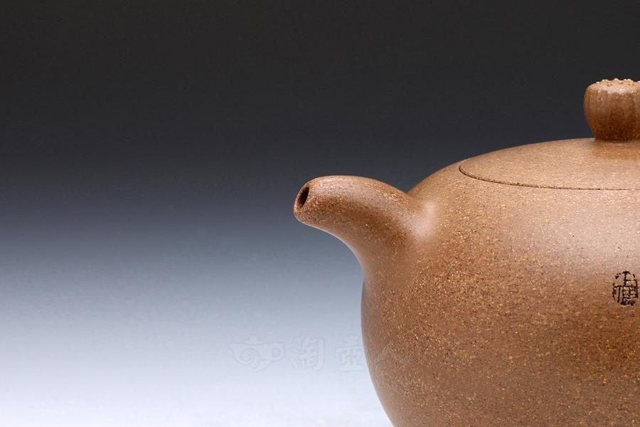 宜兴紫砂壶名家赵曦鹏紫砂壶-咏荷(厉上清刻)壶