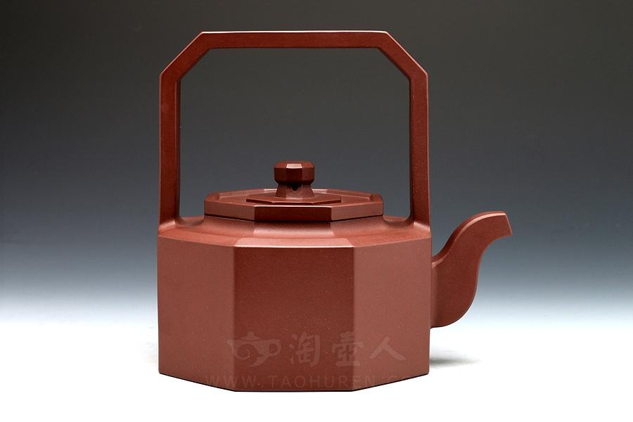 宜兴紫砂壶名家邵顺生紫砂壶-思圣提梁壶
