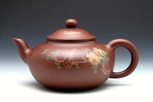 宜兴紫砂壶多子多福