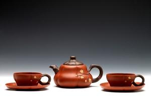 五件寒梅茶具