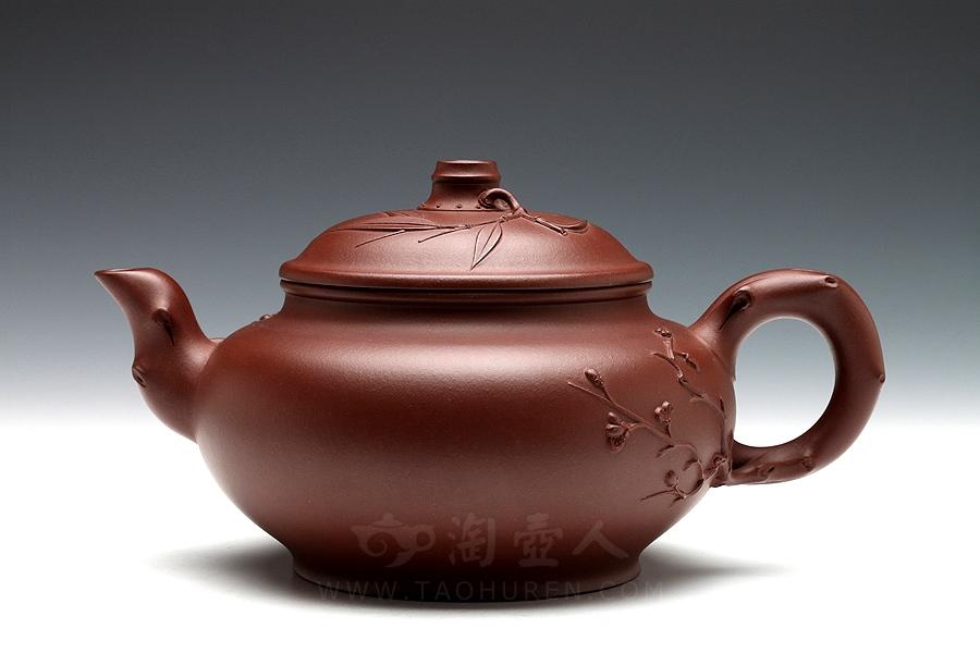 宜兴紫砂壶名家钱丽媛紫砂壶-梅竹清泉壶