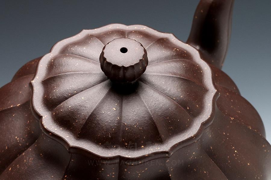 宜兴紫砂壶名家袁国强紫砂壶-月色菱花(贰)壶