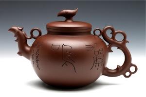 宜兴紫砂壶凤鸣(韩美林设计)