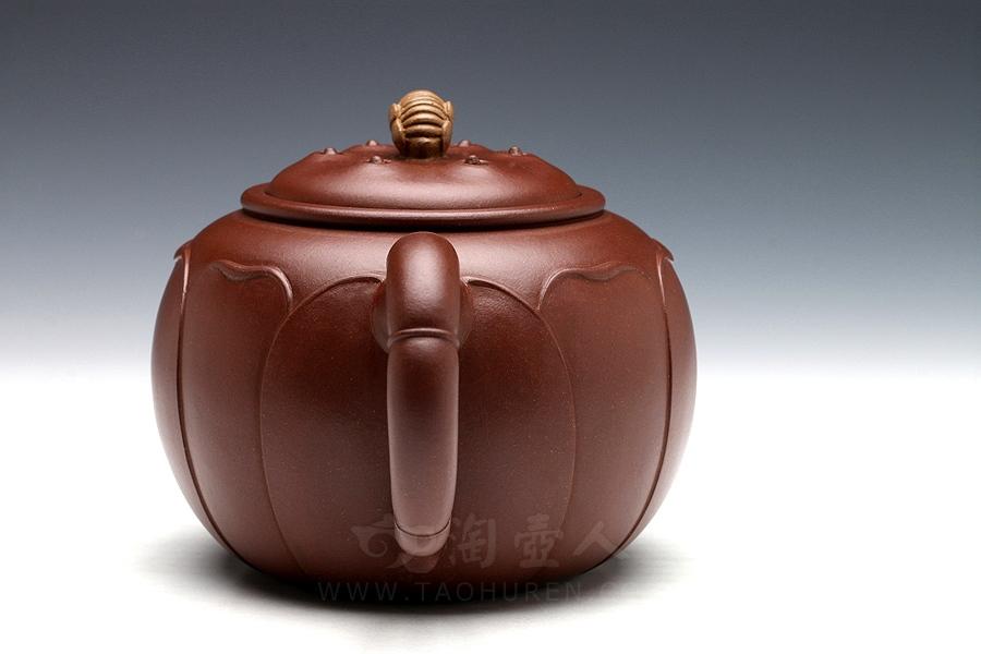 宜兴紫砂壶名家陈国良紫砂壶-密峰莲心壶
