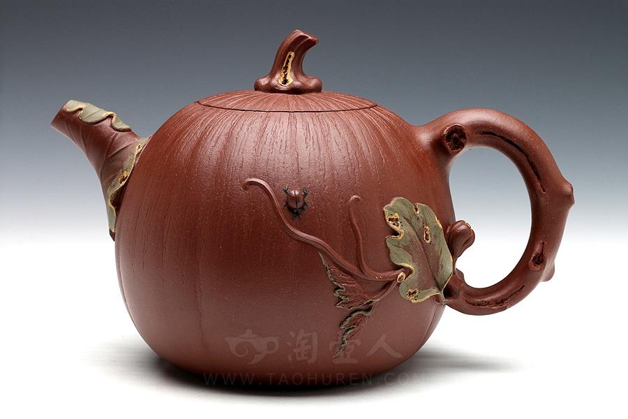 宜兴紫砂壶名家桑黎兵紫砂壶-南瓜·一壶