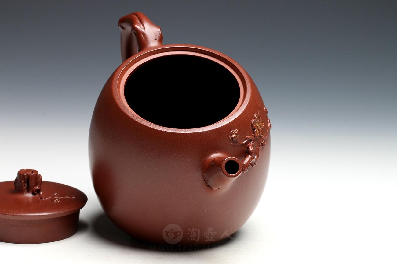 宜兴紫砂壶名家许丽萍紫砂壶-梅香壶
