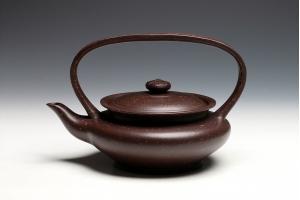 宜兴紫砂壶提篮壶