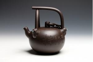 宜兴紫砂壶博浪锥新提式壶