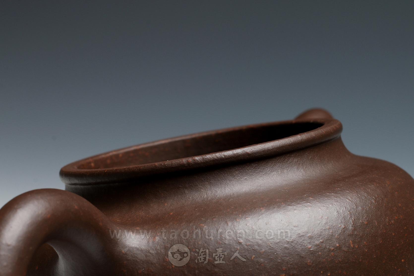 正宗原矿宜兴紫砂壶-掇只壶-李寒勇全手工制作-原矿一厂老紫紫砂泥料