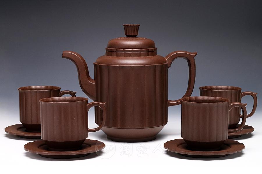 九件高菊茶具