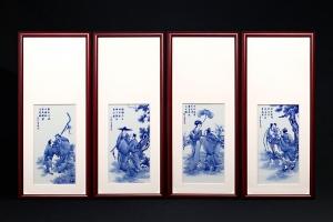 八仙图·瓷板画