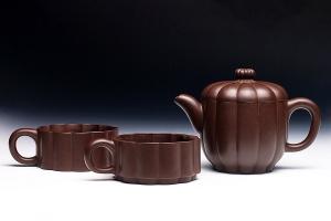 菊形叠式组合茶具