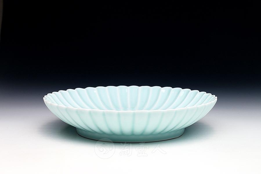 青瓷干泡茶盘