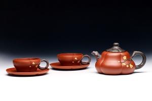 寒梅五头茶具