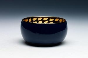刻金釉盏(蓝)