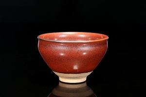 柿红盏(柴烧)