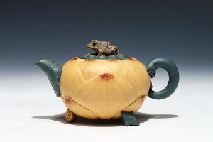 荷叶青蛙壶
