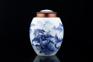 湖光山色茶叶罐