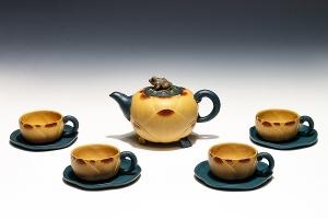 九件套荷花壺茶具