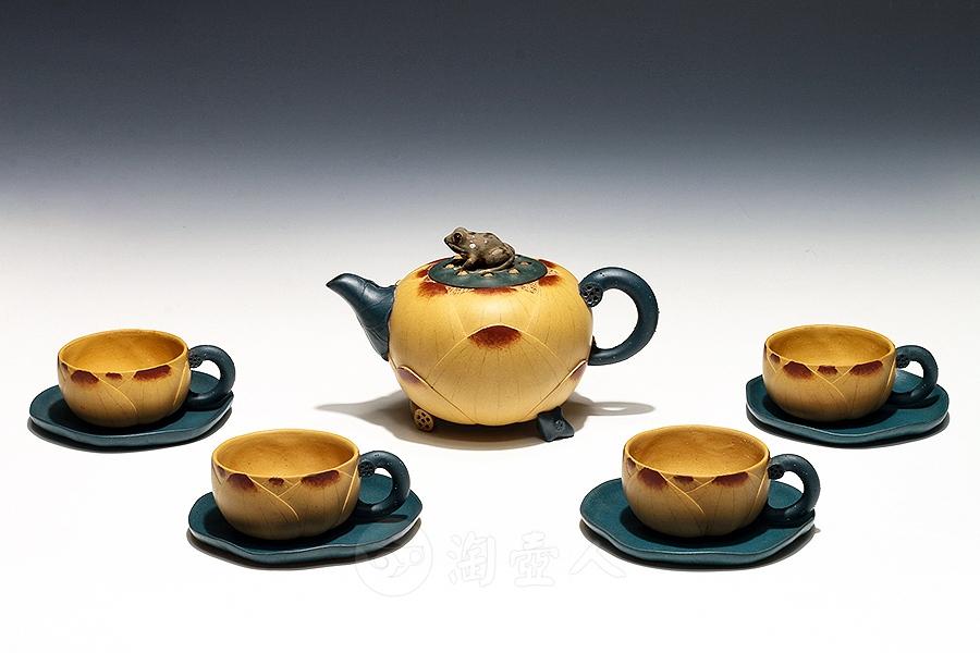 九件套荷花壶茶具