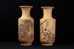 粉浆赏瓶(对)
