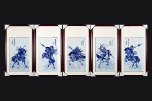五虎上将系列·瓷板画