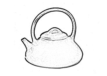 石瓢提梁壶