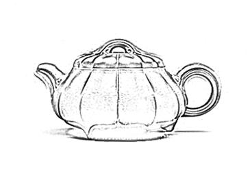 筋纹石瓢壶